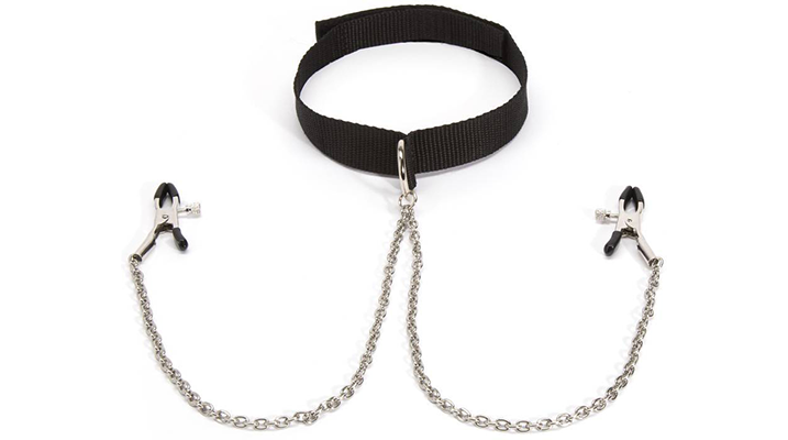 basics collar with nipple clamps