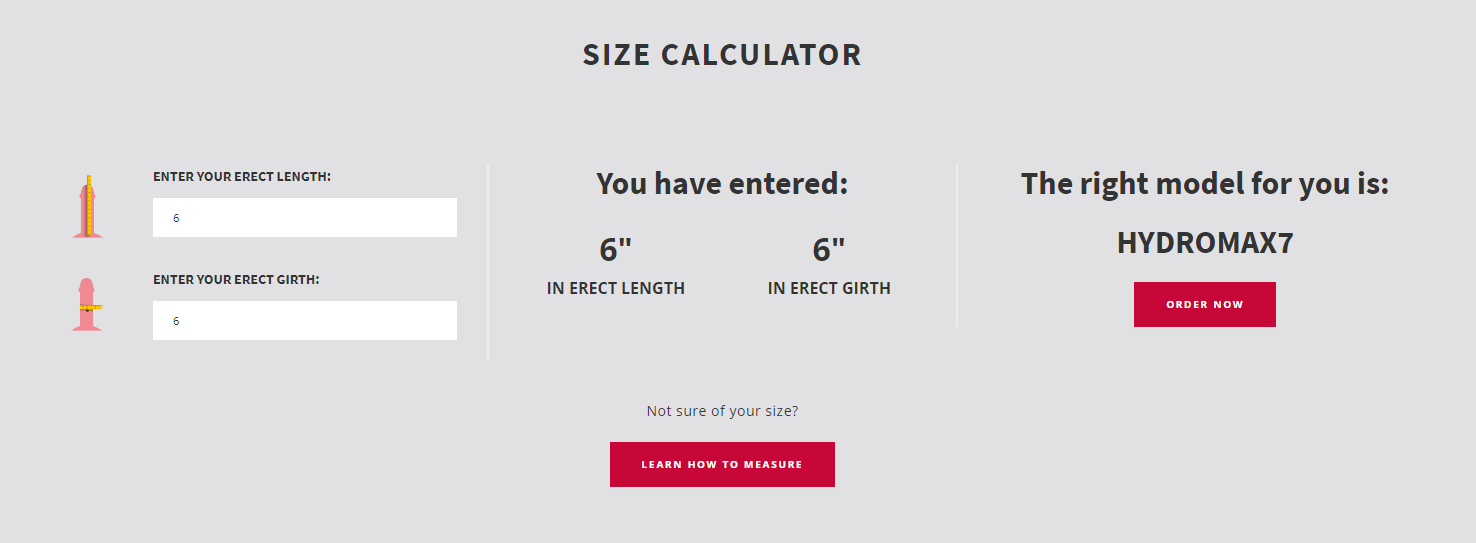 bathmate size calculator