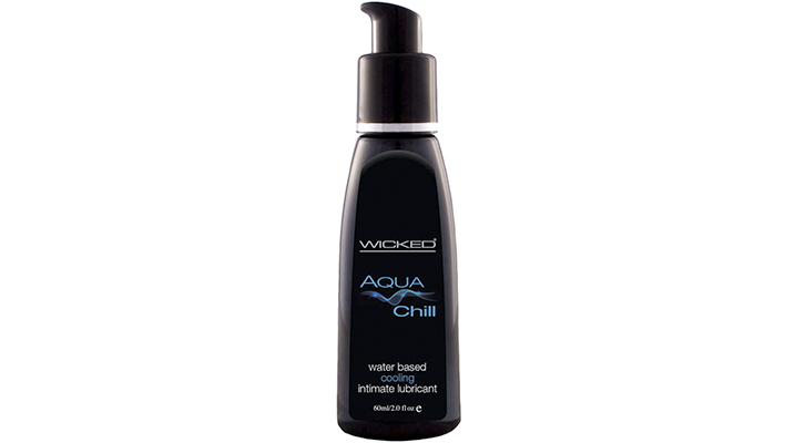 wicked aqua chill water based personal lubricant