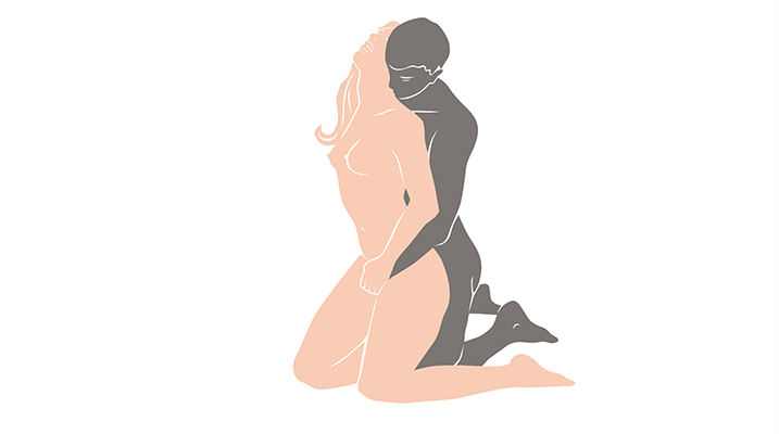 kneel together sex position